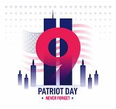 Patriot Day Banner. Memorial Day. Vector Illustration poster