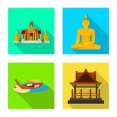 Vector Illustration Of Journey And Exotic Logo. Collection Of Journey And National Stock Vector Illu poster