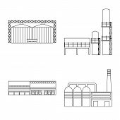 Vector Illustration Of Manufacturing And Company Logo. Set Of Manufacturing And Structure Vector Ico poster