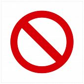 No Sign Icon Isolated On White Background. No Sign Icon In Trendy Design Style. No Sign Vector Icon  poster