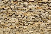 Wall Pieces Natural Rock Stone Limestone Sandstone Texture Background Light. Rock Texture. Exterior  poster