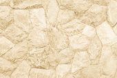 Background Texture Of Medieval Natural Stone Wall Textured Background. poster