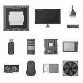 Vector Illustration Of Desktop And Technology Icon. Set Of Desktop And Device Stock Vector Illustrat poster