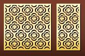 Vector Set Of Laser Cut Panels. Islamic Design With Arabic Geometric Pattern. Stencil Or Template Fo poster