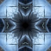 Seamless Symmetrical Pattern Abstract Glass Window Texture poster