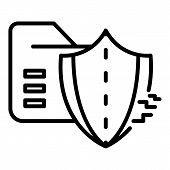 Cyber Attack On Firewall Icon. Outline Cyber Attack On Firewall Icon For Web Design Isolated On Whit poster
