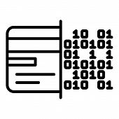 Malicious Code On Hard Drive Icon. Outline Malicious Code On Hard Drive Icon For Web Design Isolated poster