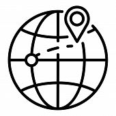 Destination Of Export Goods Icon. Outline Destination Of Export Goods Icon For Web Design Isolated O poster
