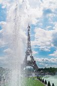 Eiffel Tower With Trocadero Fountains Close Up, Paris, France poster