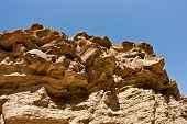 stock photo of anza  - Interesting rock formations in the desert in California - JPG
