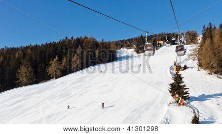 Gondola Ski Lift In South Tyrol