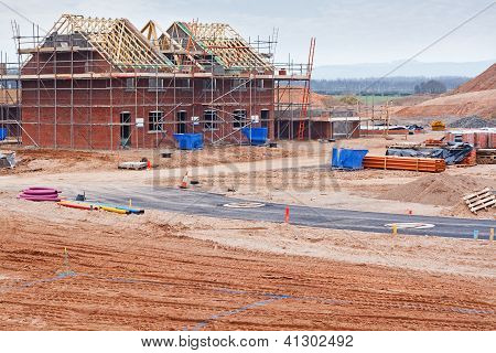 New Housing Estate Construction Site