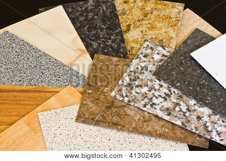 Kitchen Worktop Sample Swatches