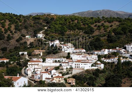 White village, Juzcar, Andalusia, Spain.