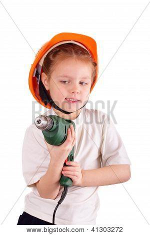 Beautiful Little Builder Girl