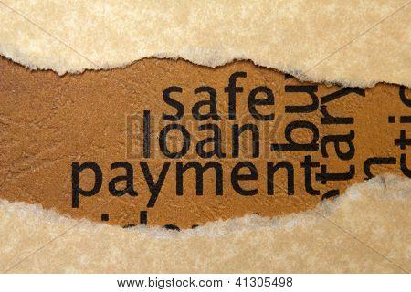 Safe Loan Payment Concept