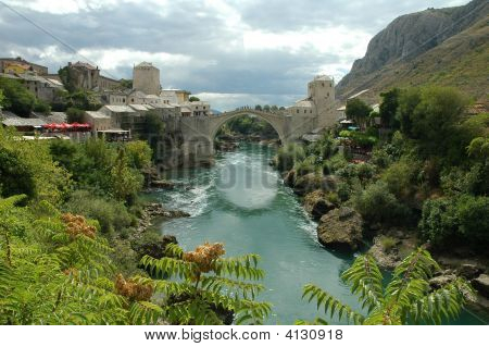 Mostar. The Old Bridge.