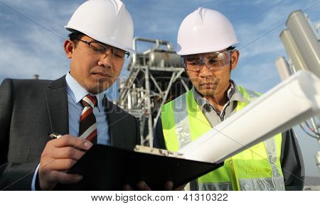 Businessman And Industrial Engineer