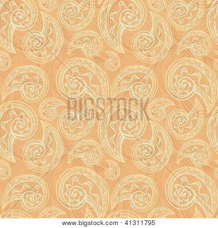 Light ethnic vector seamless pattern