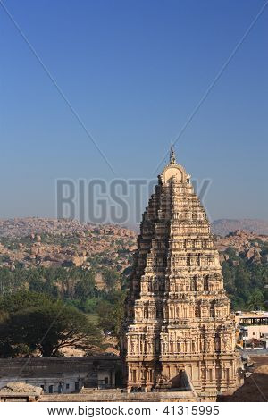 Virupaksha Temple in Hampi, India.