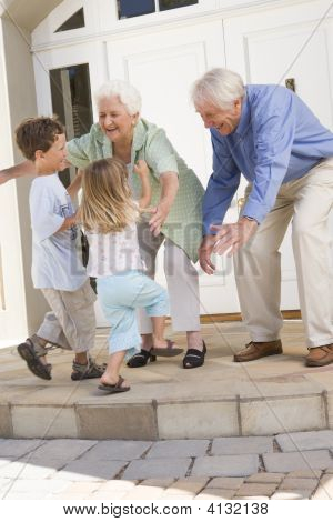 Grandparents Welcoming Grandchildren.