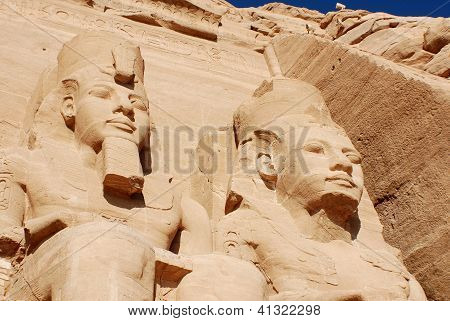 The Abu Simbel temples