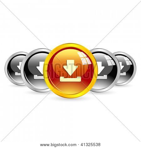 Download buttons. Vector illustration for web.