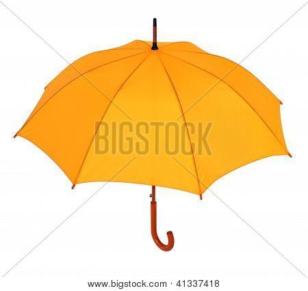 Yellow Umbrella On A White Background