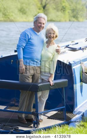 Couples Outdoors On A Boat Smiling
