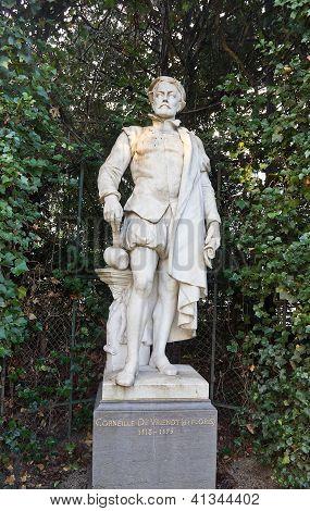 Statue Of Cornelis De Vriendt (circa XIX c.), Brussels, Belgium
