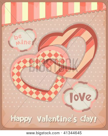 Retro Postcard To The Valentine's Day