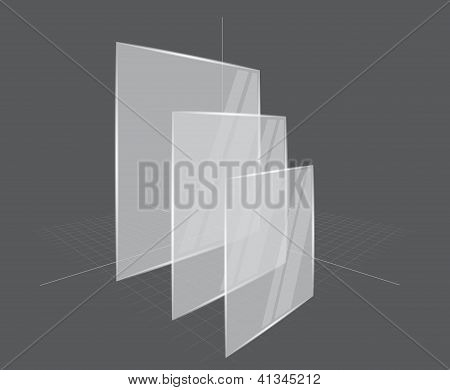 Background with transparent frames