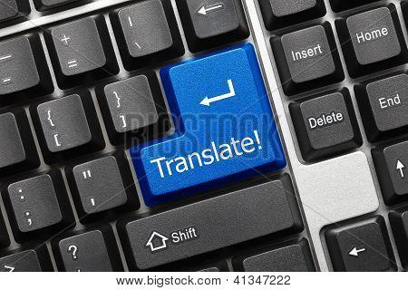 Conceptual Keyboard - Translate (blue Key)