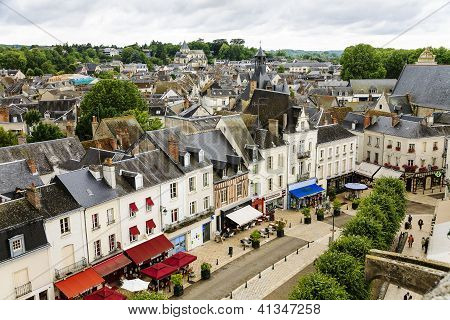 Amboise Main Street View, France.