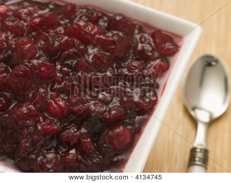 Dish Of Cranberry Sauce