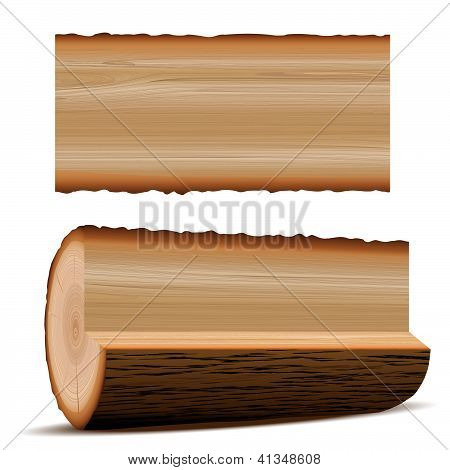 wooden material wood and board
