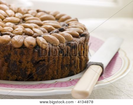 Dundee Cake On A Plate