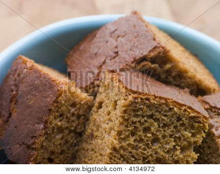 Pieces Of Parkin In A Bowl