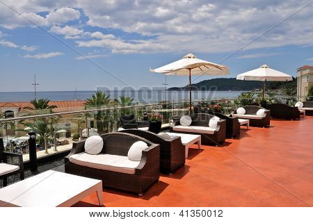 Terrace of the luxury hotel