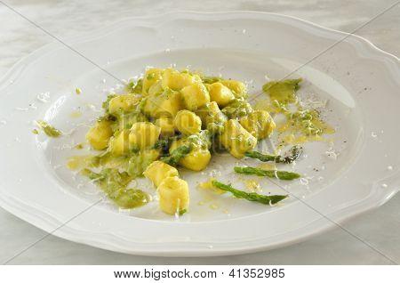 Gnocchi With Asparagus, Fresh Italian Pasta
