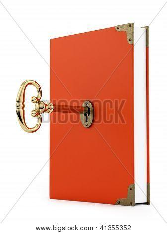 key in a book