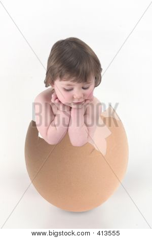 Kid In Eggshell