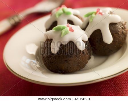 Chocolate Truffle Christmas Puddings