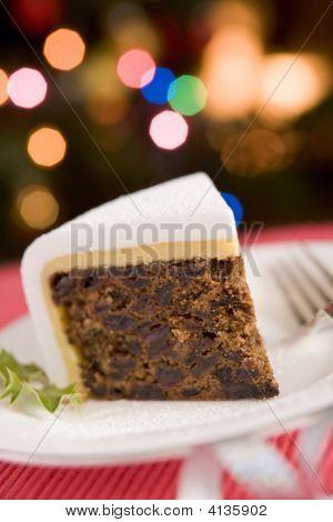 Wedge Of Christmas Cake