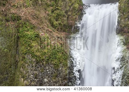 Multnomah Falls Lower Section Closeup