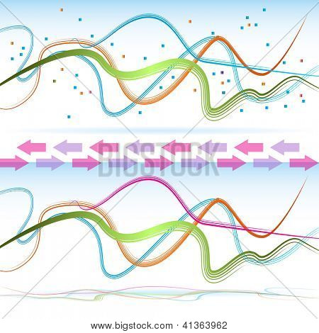 An image of abstract ribbons - set.