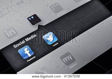 Facebook en Twitter applicaties