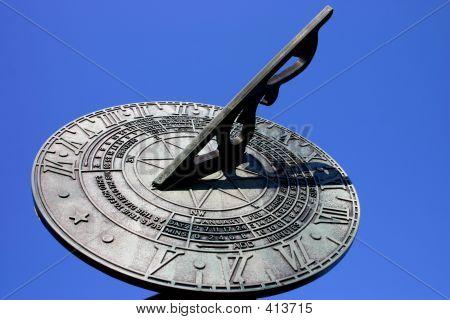 Sundial Against Blue Sky