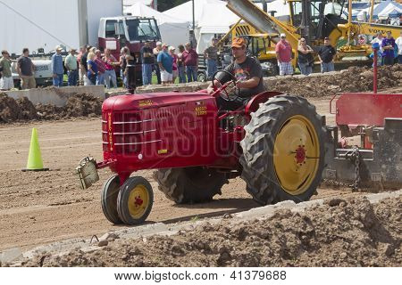 Red Massey Harris Tractor Pulling