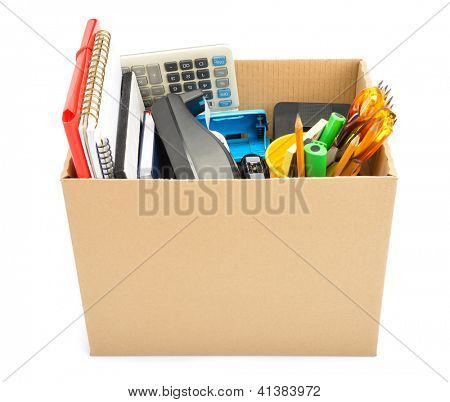 Cardboard box collected � unemployment concept